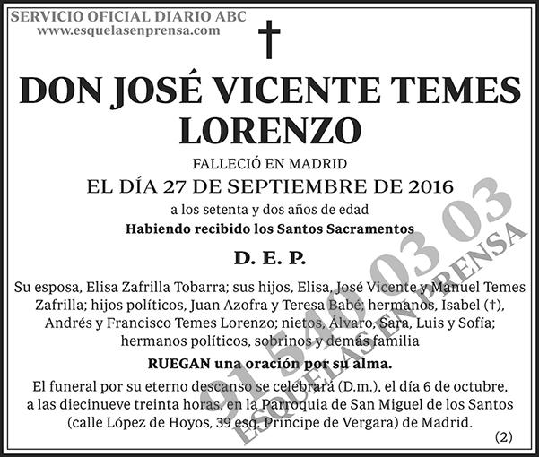 José Vicente Temes Lorenzo
